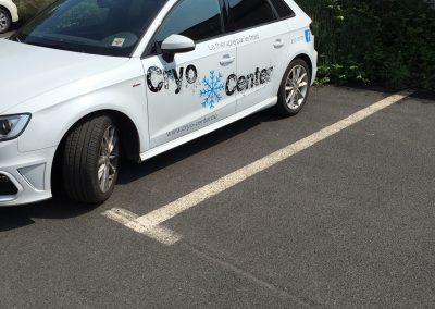 Lettrage voiture Cryo Center